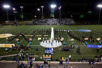 The Westfield Marching Band peforms at halftime of the Westfield - Centreville football game