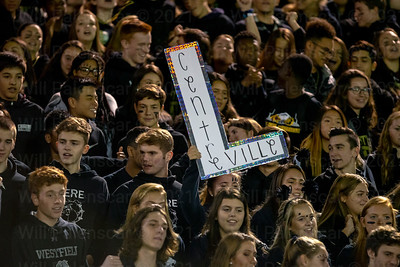 Westfield students show support of the home team in game versus Centreville