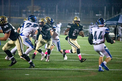 Isaiah Daniel #23 led his tema in rushing in win over West Potomac.Daniel also scored two TD's