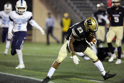 Isaiah Daniel #23 runs in for one of his 3 TD's