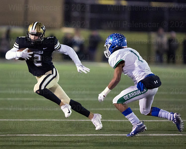 Taylor Morin #2 runs with the ball after one of his seven receptions. Morin would score on two of those recpetions