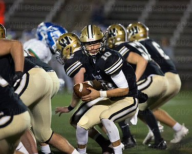 Noah Kim #10 completed 14 of his 16 passes for  157 yards and 3 TD's in Westfield's 35-7 win over South Lakes in the a the Region 6 second round playoffs