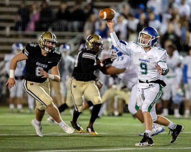 South Lakes QB Will Shapiro #9 lets pass go before Joe Clancy can disrupt
