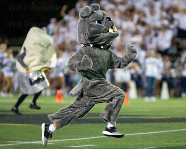 Mascots from Champe and Westfield compete in battle of the burito . The Bulldog prevailed.