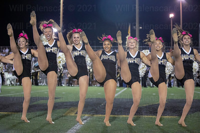 The Westfield dance team performs during halftime