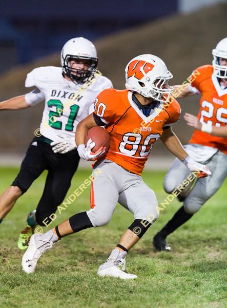 Dixon at Woodland Varsity High School football action