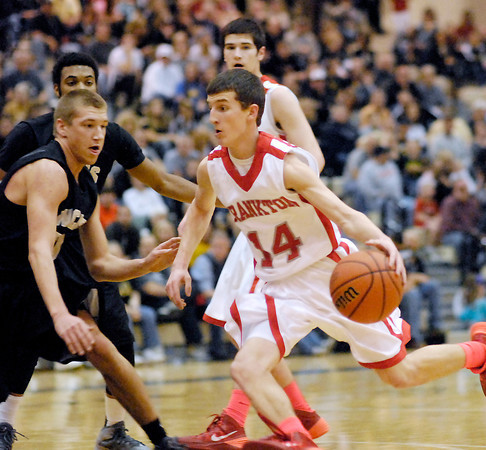 The Frankton Eagles battled the Winchester Falcons in a 2A Lapel Sectional semi-final game.