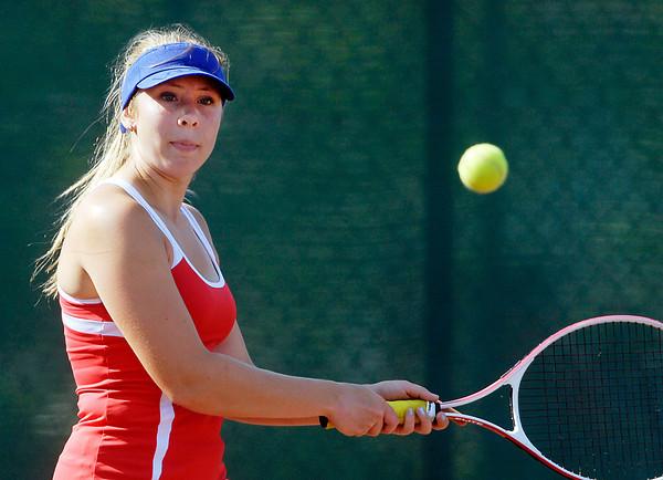 Frankton's #3 singles player Lauren Leveque.
