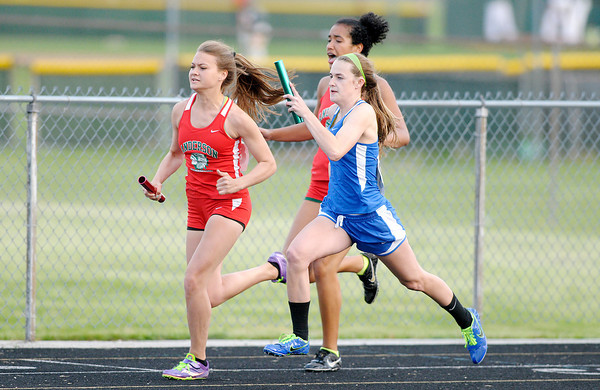 Don Knight   The Herald Bulletin<br /> Girls Track Sectional at Pendleton Heights on Tuesday.