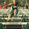 Katie Russell competed for Pendleton Heights in the 100 meter dash.
