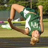 Pendleton Heights' Kelsey Werling clears her first attempt at the high jump.