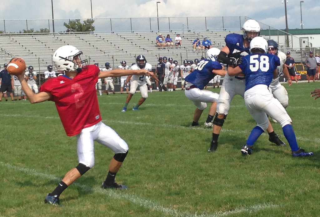 . John Kampf - The News-Herald.com Madison scrimmages against Twinsburg on Aug. 12.