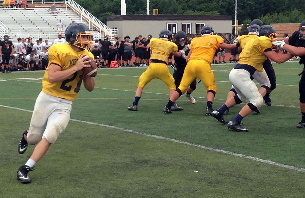 . John Kampf - The News-Herald.com The Kirtland and North football teams scrimmage at Perry on Aug. 12.