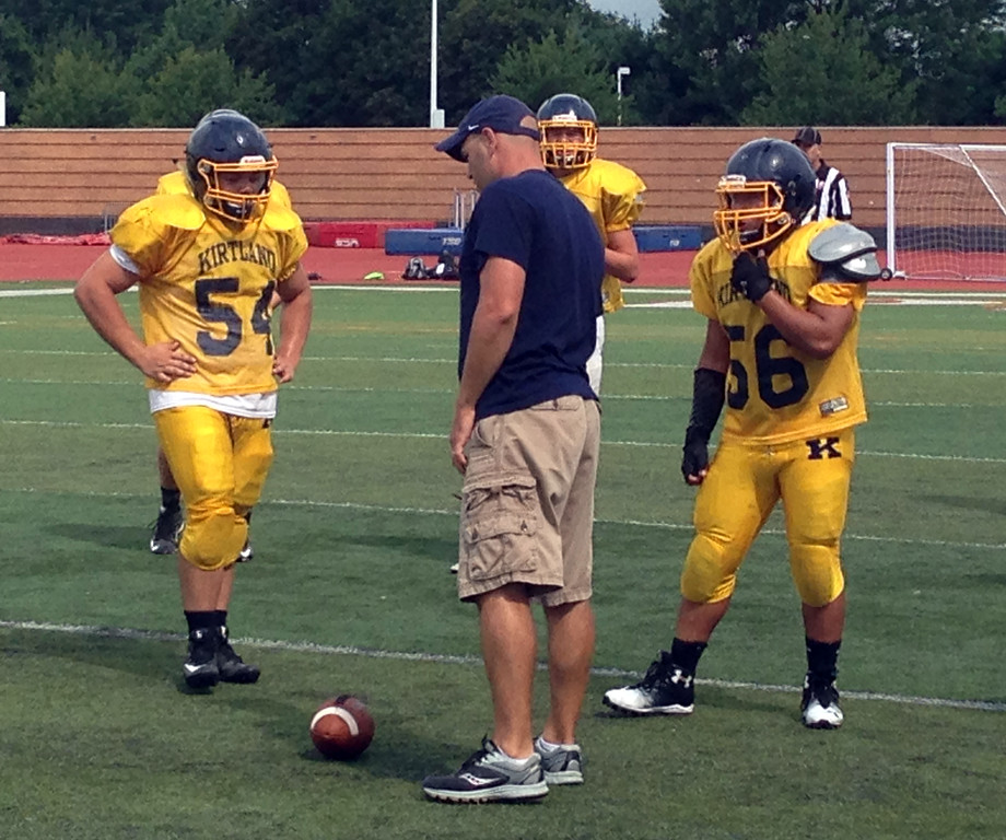 . John Kampf - The News-Herald.com The Kirtland football team during a scrimmage at Perry on Aug. 12.