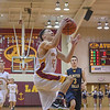Eric Bonzar—The Morning Journal<br /> Avon Lake's Jordan Ball (12) soars to the rim to put the Shoremen on the board first, Jan. 13, 2017.