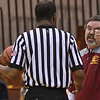 Eric Bonzar—The Morning Journal<br /> Avon Lake head coach Eric Smith argues a call with an official, Jan. 13, 2017.