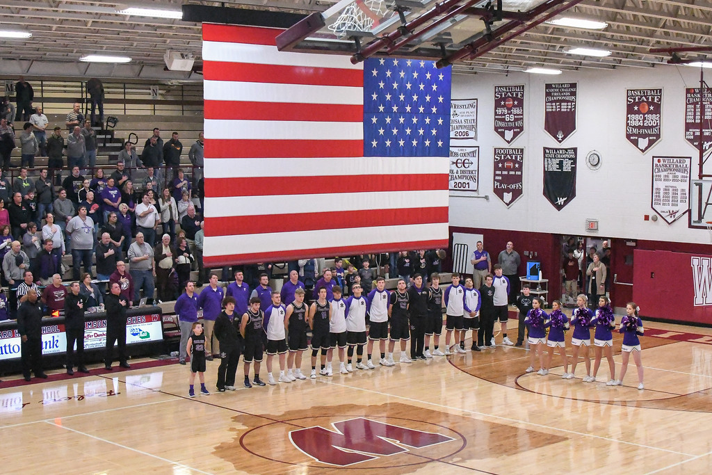 . Eric Bonzar�The Morning Journal<br> The Vermilion Sailors traveled to Willard, Ohio to face the Shelby Whippets in  a OHSAA D-II sectional finals match-up, March 2, 2018. The Sailors beat the Whippets, 53-47 to advance to the district semifinals.