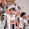 Eric Bonzar—The Morning Journal<br /> Olmsted Falls' student section roots on their team, March 3, 2017.