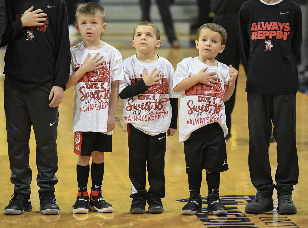 . Eric Bonzar�The Morning Journal St. John\'s knock off the Elyria Pioneers, 48-47, in the D-I Akron/Toledo Regional Semifinal game, March 15, 2017.
