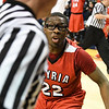 Eric Bonzar—The Morning Journal<br /> Elyria senior Antonio Blanton (22) looks for a foul call as the clock hits zero, in the Pioneers 48-47 loss to the St. John's Jesuit Titans, March 15, 2017.