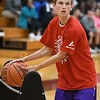 Eric Bonzar—The Morning Journal<br /> Avon's Ben Yurkovich competes in the 3-point shooting contest, during the Legeza Cage Classic All-Stars event, held at Oberlin College, March 26, 2017. Yurkovich won the contest.