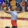 Eric Bonzar—The Morning Journal<br /> Elyria's Deviian Williams soars to the rim for a dunk during the Legeza Cage Classic All-Stars dunk contest, March 26, 2017. Williams won the contest.