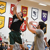Eric Bonzar—The Morning Journal<br /> Elyria Catholic's Dorian Crutcher hits a layup during the Legeza Cage Classic All-Stars Rising Stars game, March 26, 2017.