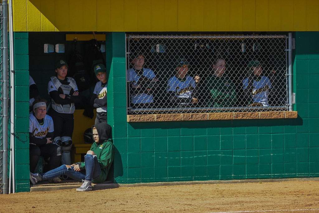 . Eric Bonzar�The Morning Journal<br> The Amherst Comets hosted the North Ridgeville Rangers, April 19, 2018.