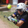 Eric Bonzar—The Morning Journal<br /> Keystone's Summer Constable fouls off a bunt attempt in the bottom of the third inning, June 3, 2016.