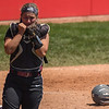 Eric Bonzar—The Morning Journal<br /> Lebanon catcher Molly Osborne reacts after losing the D-I state championship game to the Elyria Pioneers, 4-3, June 3, 2017.