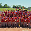 Eric Bonzar—The Morning Journal<br /> The Elyria Pioneers are crowned the D-I state champions after the team's 4-3 win over the Lebanon Warriors, June 3, 2017.