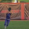 Eric Bonzar—The Morning Journal<br /> Keystone 's Paige Hartley camps under a pop fly for the out, June 2, 2017.