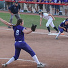 Eric Bonzar—The Morning Journal<br /> Keystone 's Lauren Shaw pitched five innings, giving up seven hits and five runs, in the Wildcats' D-II state semifinal loss against the Akron Hoban Knights, June 2, 2017.