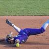 Eric Bonzar—The Morning Journal<br /> Keystone 's Shelby Fortune lays out for the out in the bottom of the first inning, June 2, 2017.