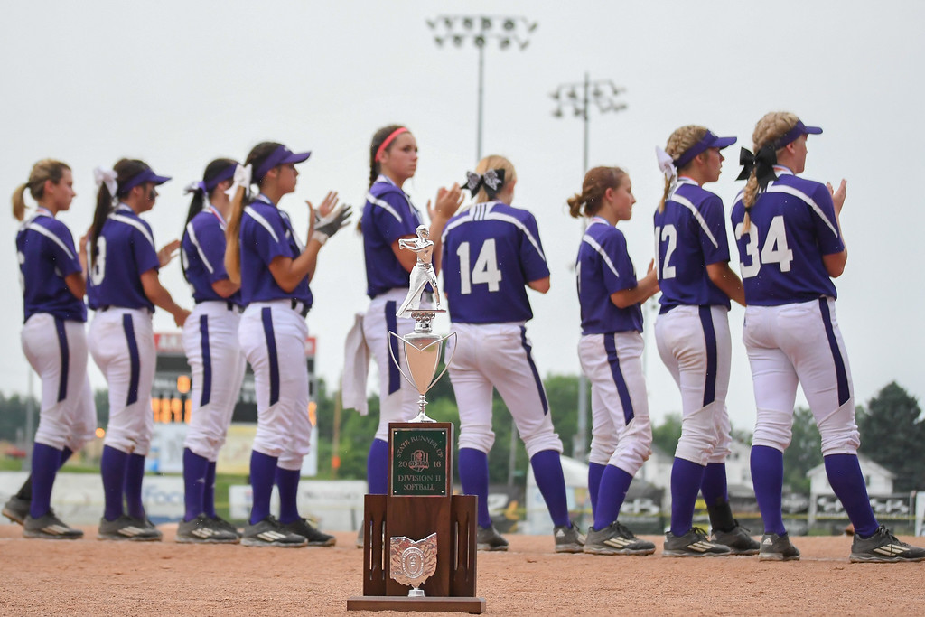 . Eric Bonzar�The Morning Journal The Keystone Wildcats finished their season as the OHSAA DII State runner-ups after falling to the Hebron Lakewood Lancers 7-4, June 4, 2016.