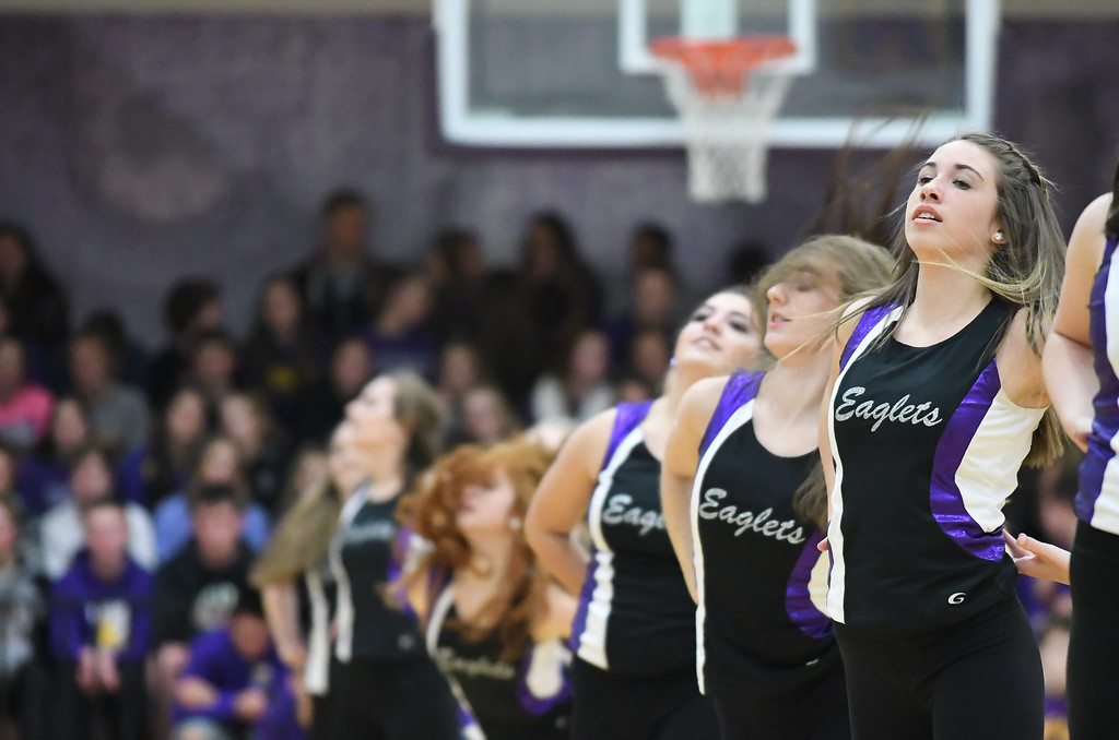 . Eric Bonzar�The Morning Journal The Avon Eaglets entertain the crowd during halftime, Dec. 9, 2016.