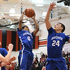 Eric Bonzar—The Morning Journal<br /> Brunswick's Keith Simmons rips down a rebound on the defensive glass, Dec. 16, 2016.