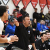 Eric Bonzar—The Morning Journal<br /> Brunswick head coach Joe Mackey barks out a play to his team, Dec. 16, 2016.