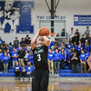 Eric Bonzar—The Morning Journal<br /> Columbia's Jared Heidecker (3) tosses up a free throw.