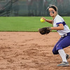 Eric Bonzar—The Morning Journal<br /> Keystone's Shelby Fortune throws to first after fielding a grounder up the middle.