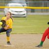 Anderson hosted Shenandoah's Jessica Patton catches the ball to force Anderson's Alexandra Poor out at second as the Indians hosted the Raiders on Wednesday.