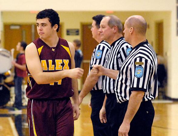 Alexandria vs Lapel High School in boys basketball Friday night at Lapel.