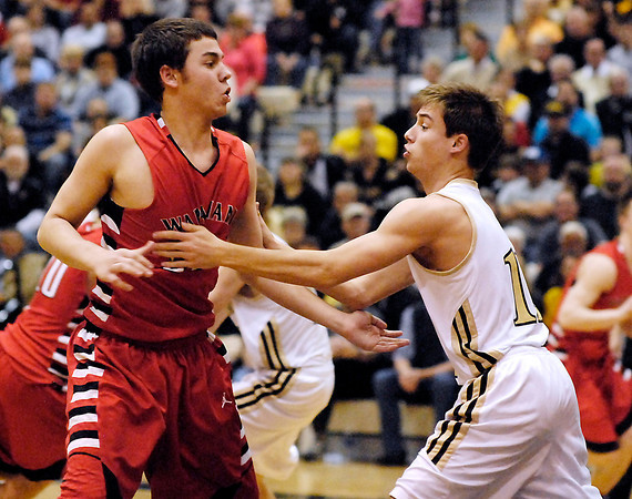 The Lapel Bulldogs battled the Wapahani Raiders in a 2A Lapel Sectional semi-final game.