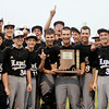 Lapel baseball  players celebrate their 6 to 3 victory over Frankton in the 2A Lapel Baseball Sectional Monday.