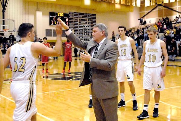 John P. Cleary | The Herald Bulletin <br /> Park Tudor vs Lapel in boys basketball.