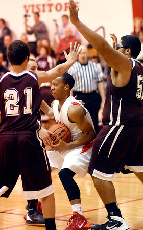 THB photo/John P. Cleary<br /> Tri vs Liberty Christian in boys basketball.