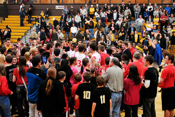 The Liberty Christian Lions battled the Monroe Central Golden Bears for the Class A Monroe Central High School Sectional championship.