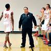 John P. Cleary   The Herald Bulletin<br /> The Liberty Christian Lions plays Seton Catholic Cardinals in boys basketball.