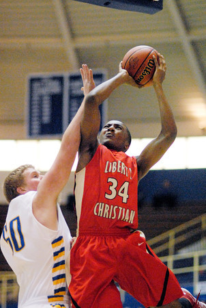 Liberty Christian vs Union (Modoc) in the 1A IHSAA regional semifinal game Saturday.