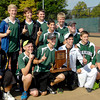 Pendleton Heights celebrate the schools' first boys tennis sectional title Saturday with a 3-2 victory over Lapel.